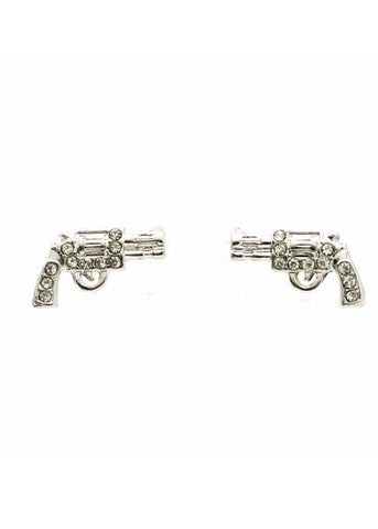 Pistol Post Earring-Silver