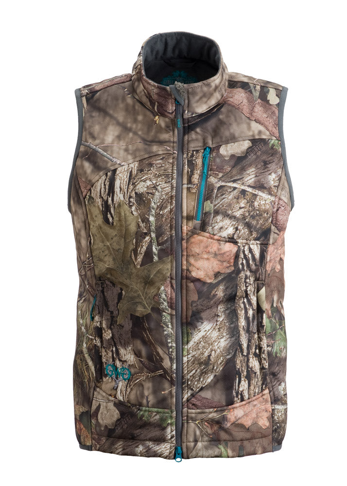 Plus Size Artemis 3 layer Softshell Vest - Mossy Oak Country