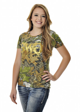 Womens GWG Basic Tee Mossy Oak Obsession Camo by Girls With Guns