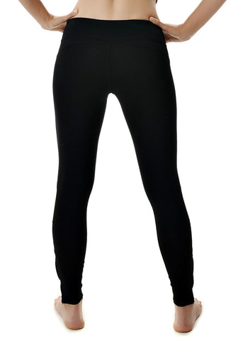 Womens Running Pants Black by Girls with Guns