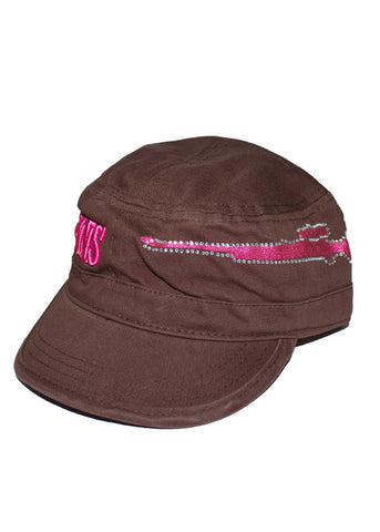 GWG Gun Military Hat Brown - Girls With Guns - 1