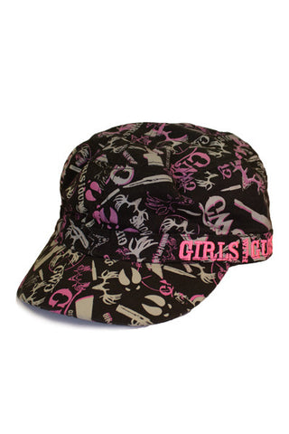 GWG Camo Collage Military Hat Pink - Girls With Guns - 1