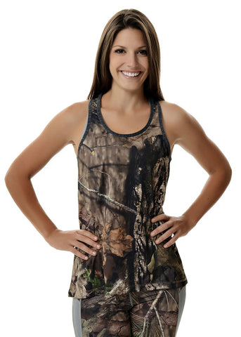 Womens Lightweight Tank Top in Mossy Oak Camo by Girls with Guns