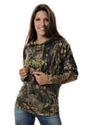 Womens Camo Buck Stamp Hoodie Mossy Oak Country by Girls with Guns