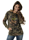 Womens Camo Buck Stamp Hoodie Mossy Oak Country Alternate View by Girls with Guns