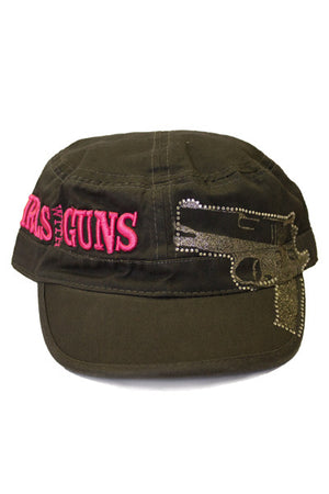 GWG Gun Military Hat Charcoal - Girls With Guns - 3
