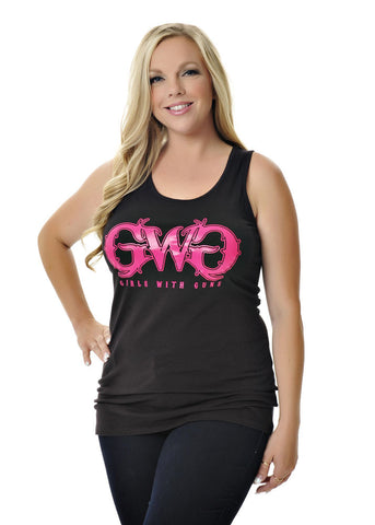 Womens Classic Tank in Black by Girls With Guns