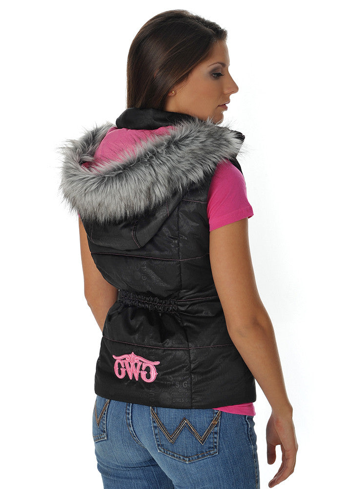 GWG Fur Vest Black - Girls With Guns - 1
