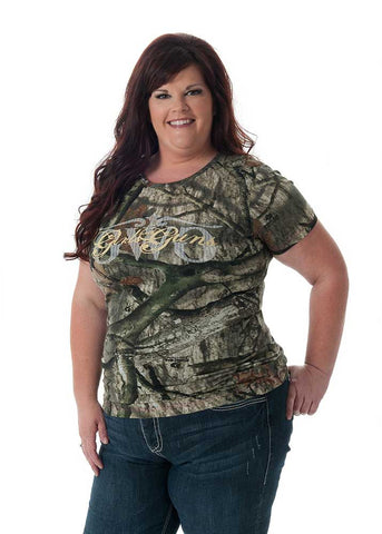 Classic Mossy Oak Treestand® Tee w/Tan - Girls With Guns