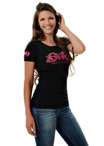 Womens GWG Basic Tee in Black by Girls with Guns