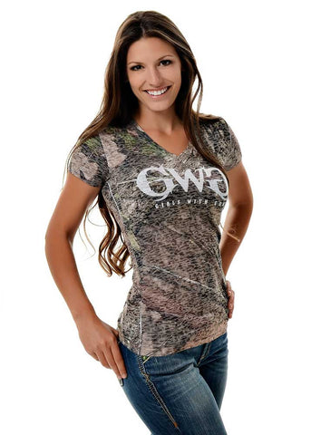 Womens Country Tee Mossy Oak Break Up Country by Girls with Guns