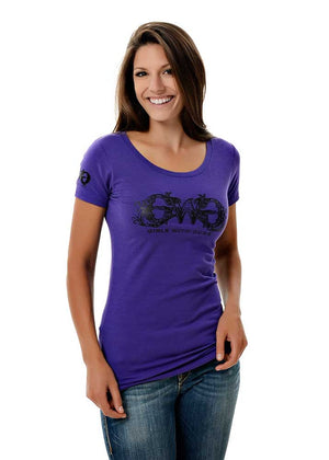 Womens GWG Basic Tee in Purple by Girls with Guns
