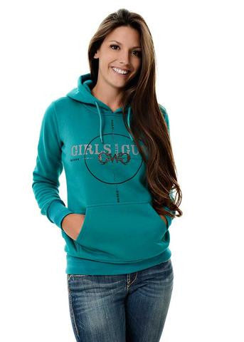 Plus Size Scope Pullover Hoodie Teal