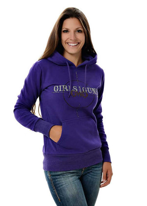 Womens Scope Pullover Hoodie in Purple by Girls with Guns