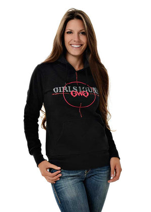 Womens Scope Pullover Hoodie in Black by Girls with Guns