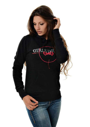 Womens Scope Pullover Hoodie in Black Alternate View by Girls with Guns