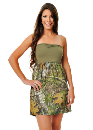 Womens Tube Dress in Mossy Oak Obsession Camo by Girls With Guns