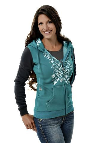 Plus Size Ear Protection Hoodie Teal