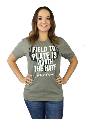 Field To Plate Grey Tee