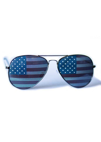 Patriotic Aviator Sunglasses - Girls With Guns - 1