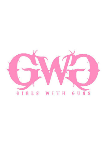 GWG Large Car Sticker Pink - Girls With Guns