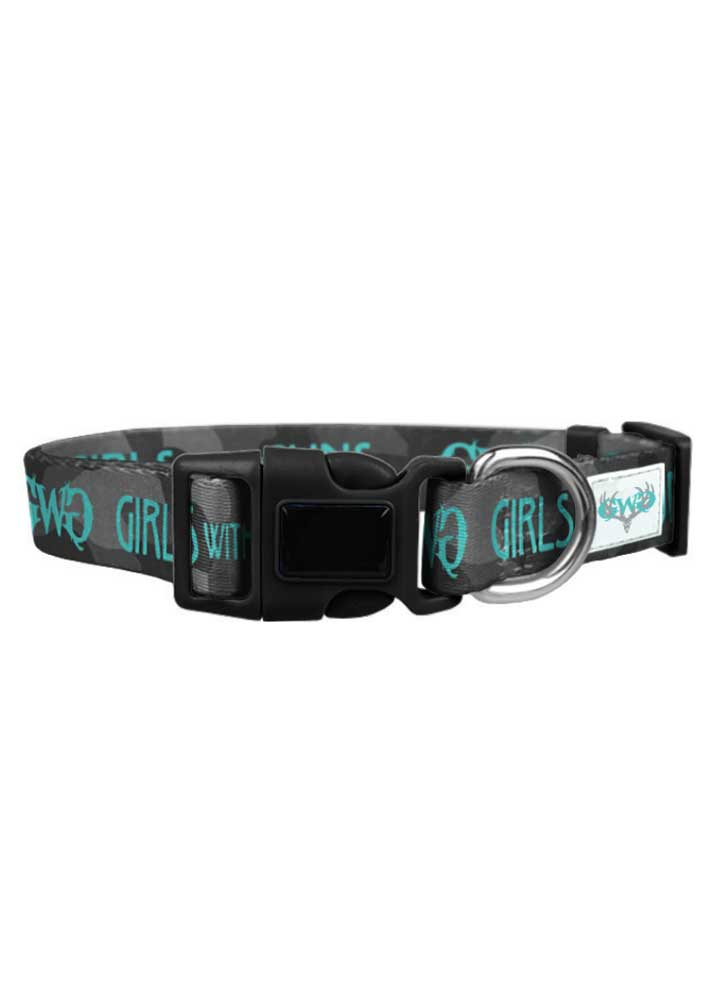 GWG Dog Collar | Black Camo | Large