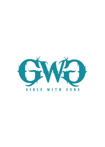 GWG Small Car Sticker Teal - Girls With Guns