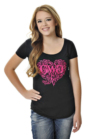Womens Gun Heart Tee in Black by Girls With Guns