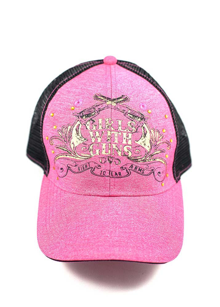 Crossing Pistols Hat - Pink - Girls With Guns