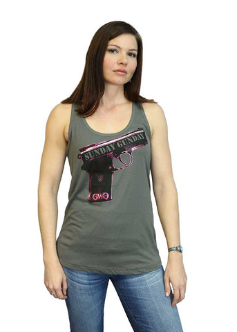 Sunday Gunday Racerback Tank Top - Grey