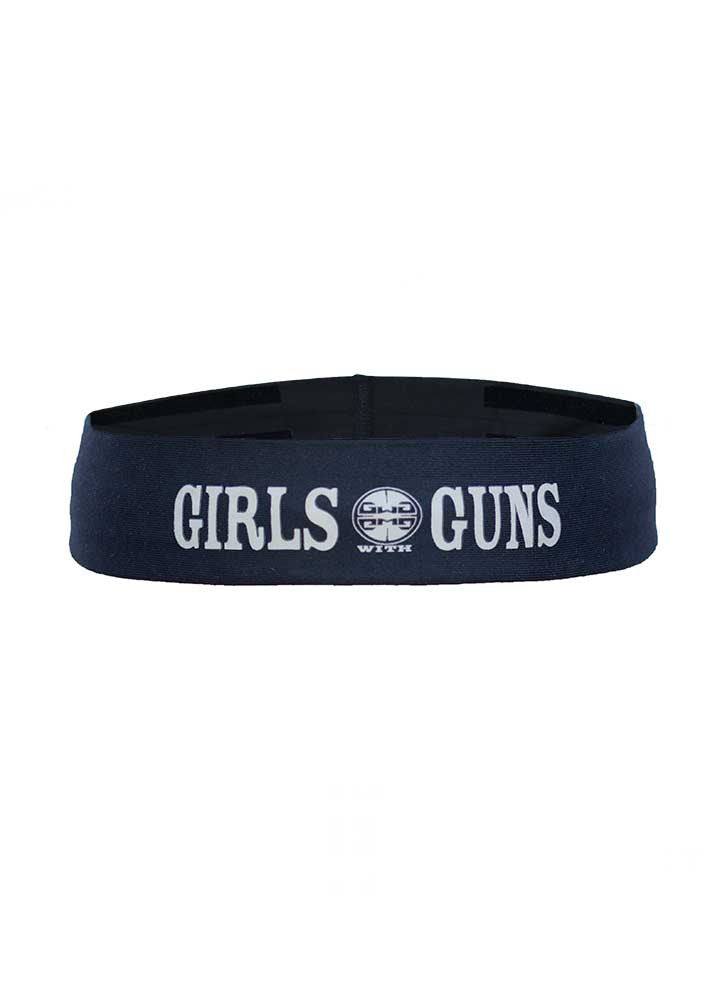 Womens Sports Headband in Black by Girls with Guns