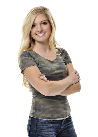Keep on Trackin Camo Pocket Tee