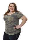 Plus Size Keep on Trackin Camo Pocket Tee