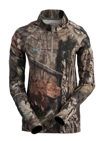 Womens Long Sleeve Base Layer in Mossy Oak Camo by Girls with Guns