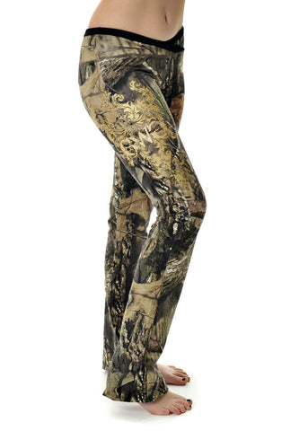 Womens Spring Lounge Pants in Mossy Oak Break Up Country Camo by Girls With Guns