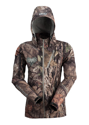 Womens Midweight Jacket in Mossy Oak Camo by Girls with Guns