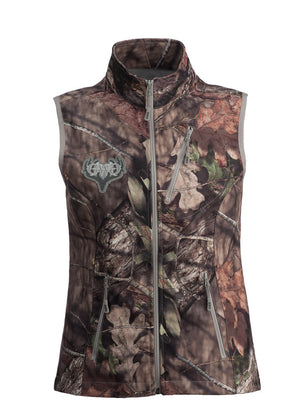 Womens Midweight Vest in Mossy Oak Camo by Girls with Guns