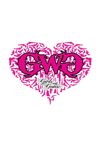 Gun Heart Sticker - Pink