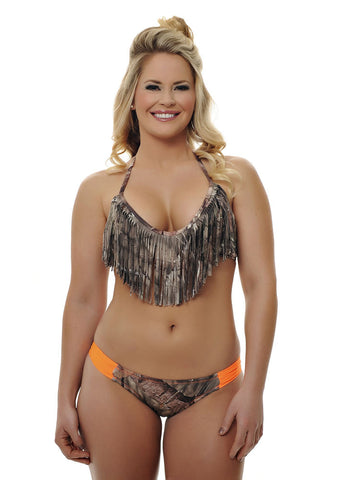 Womens Fringe Bikini Bottom in Mossy Oak Break Up Country Camo by Girls With Guns - 1