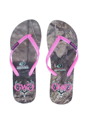 Flip Flop Mossy Oak Country with Pink
