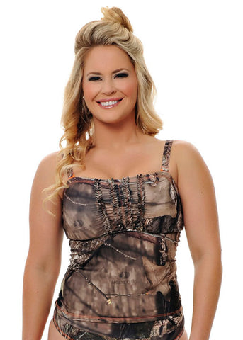 Tankini Top Mossy Oak Break Up Country