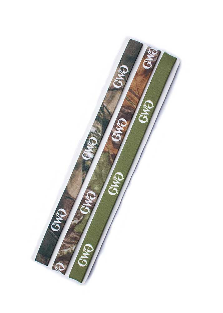 Headband 3 Pack in Mossy Oak Camo with GWG Logo by Girls With Guns