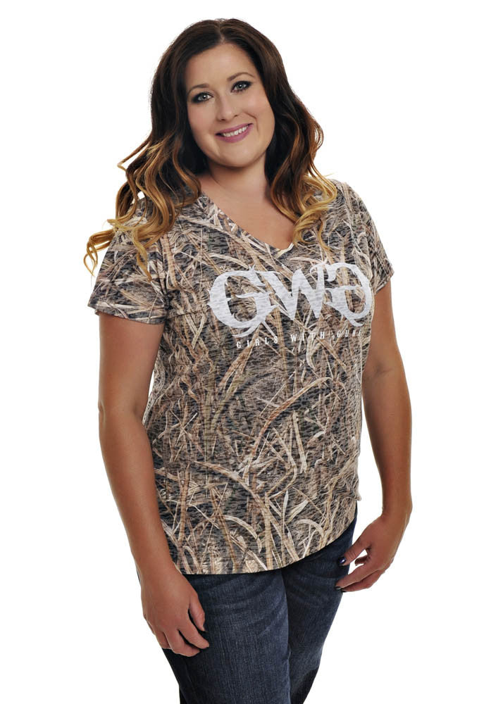 Womens Country Tee Mossy Oak Blades by Girls with Guns