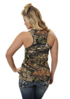 Womens Classic Tank in Mossy Oak Break Up Country Camo by Girls With Guns Rear View