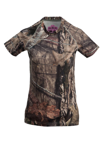 Womens Short Sleeve Base Layer by Girls with Guns