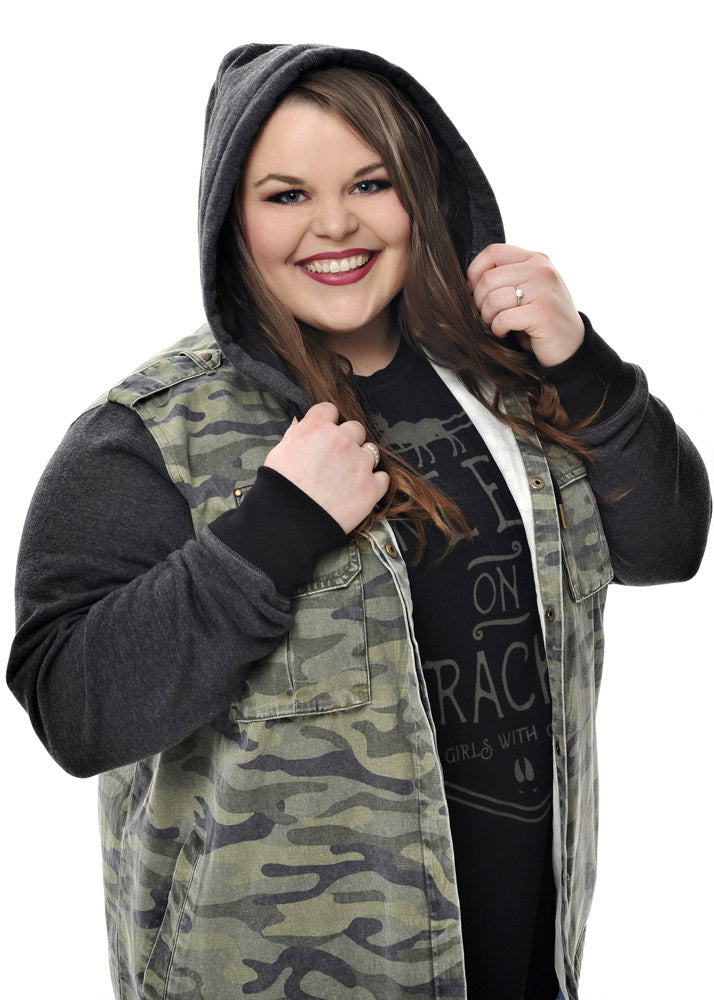 Plus Size Subculture Camo Jacket