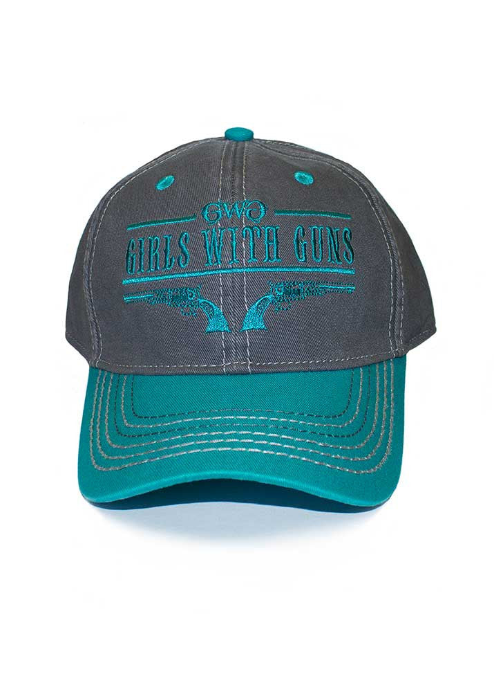 Womens 6 Shooter Hat in Teal by Girls with Guns