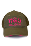 Classic Trucker Hat - Olive - Girls With Guns - 1
