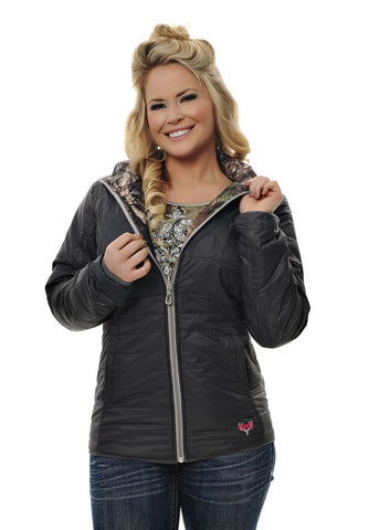 Womens Reversible Puff Jacket in Mossy Oak Break Up Country Camo by Girls With Guns