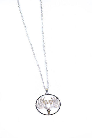 Montana Silversmiths Logo Buck Necklace - Girls With Guns